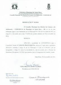 RESOLUÇÃO 34.2016